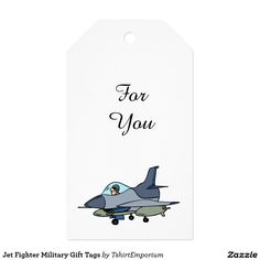 Jet Fighter Military Gift Tags