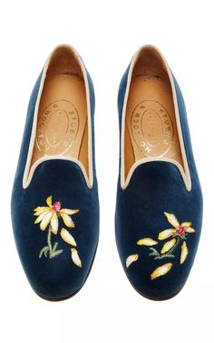 M'O Exclusive: Happy Menocal He Loves Me - He Loves Me Not Slipper by Stubbs & Wootton for Preorder on Moda Operandi