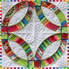 Wedding rings quilt and blocks 4x4 5x5 6x6 7x7 in the hoop machine emb | Sweet Pea Machine Embroidery Designs
