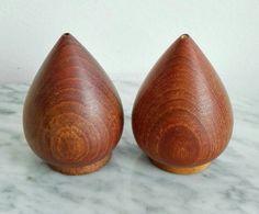 Wood Home Decor, First Contact, Salt And Pepper, Scandinavian Design, Danish, Teak, Vintage Items, Mid Century, How To Make