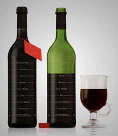 """Creative Packaging: Elegant Wine Label Design Samples : """" Wine labels and their exquisite bottles make it easier to choose which wine from s. Wine Bottle Design, Wine Label Design, Wine Bottle Labels, Wine Bottles, Reuse Bottles, Design Da Garrafa, Mulled Wine, Bottle Packaging, In Vino Veritas"""