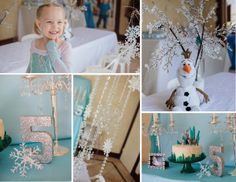 Gorgeous Disney Frozen party with lots of inspiration for games, treats, food, and fun! @ One Lucky Pickle