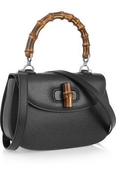5cb8662b6ab Black textured-leather (Calf) Twist lock-fastening front flap Comes with  dust bag This style is made with natural bamboo and as such may have small  ...