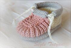 Knitting Pattern PDF Baby Boy Booties Pattern by Childhaps