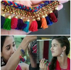 Ms Dhoni Disha Patani bracelet Tassel Bracelet, Tassel Jewelry, Boho Jewellery, Jewelery, Silk Thread Necklace, Thread Bracelets, Trendy Jewelry, Fashion Jewelry, Disha Patni