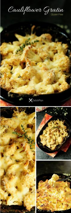 A delicious, healthier twist on a classic potato gratin, this cauliflower gratin makes an exciting side dish that gets your family to eat more vegetables!