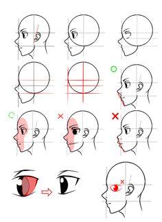 How to draw manga Perfil Head tutorial by MrKaroruso on DeviantArt