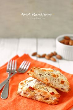 Apricot Almond Scones bursting with tangy-sweet dried apricots and lots of sweet almond flavor.