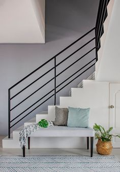 9 Stunning HDB Executive Maisonette Homes that Look Like Landed Property Interior Stairs, Home Interior Design, Em Home, Renovation Budget, Living Area, Living Room, Open Plan Kitchen, Home Decor Kitchen, Soft Furnishings