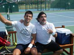 Diego con Djokovic