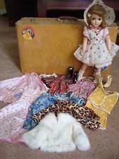 "1940s Arranbee R&B Nannette or Nancy Lee 18"" Compo Doll Trunk 8 Outfits Fur Coat"