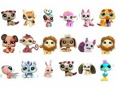 100 pcs different kinds Figures Littlest Pet Shop LPS Animasl Loose Figures Collection toy Hasbro Toys Dolls free shipping