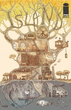 Tree drawing illustration beautiful ideas for 2019 Fantasy House, Fantasy World, Inspiration Art, Art Inspo, Rpg Map, Illustration Art, Illustrations, Dungeon Maps, Fantasy Places