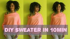 DIY Clothes | How To Make A Sweater in 10min