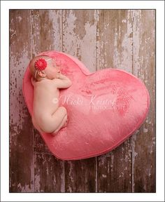 So cute newborn photo. Since the new baby is due Valentines day :)