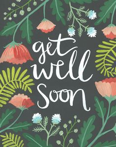 Send your well wishes with this Painted Jungle Get Well Soon Card by One Canoe Two. Write your personal message inside this cute get well card and we'll do the rest. Get Well Soon Images, Get Well Soon Funny, Get Well Soon Quotes, Well Images, Get Well Messages, Get Well Wishes, Get Well Cards, Birthday Wishes, Birthday Greetings