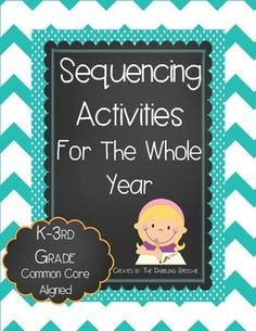 Sequencing activities to use with K-3rd. Common Core aligned