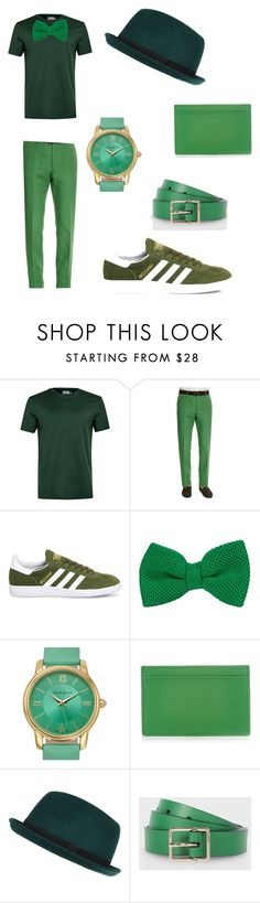 """""""St. Patrick's Day Luck: #2"""" by indigofudge on Polyvore featuring Topman, Incotex, adidas, Auguste Jaccard, Smythson, River Island, Paul Smith, men's fashion and menswear"""