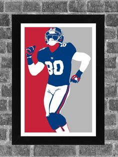 Hey, I found this really awesome Etsy listing at https://www.etsy.com/listing/188896936/new-york-giants-victor-cruz-portrait