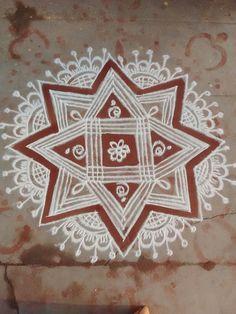 Padi Kolam, Kolam Rangoli, Floor Art, Rangoli Designs, Diwali, Easy Drawings, Festive, Fairy, Indian