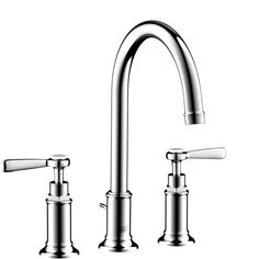Hansgrohe Axor Montreux Chrome (Grey) Widespread Bathroom Faucet with Lever Handle (Chrome)
