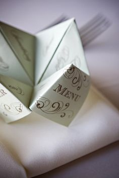 pick a course, any course! {It's in the Details} Cootie Catcher Menus - Oh Lovely Day