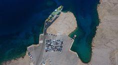 Fährhafen Zigljen Insel Pag Kroatien