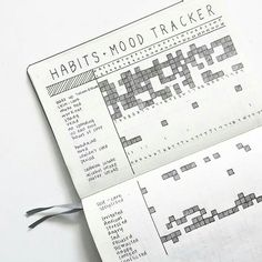 How to Track Your Moods in a Bullet Journal. Weekly, monthly and yearly spreads to take note of your feelings daily. Awesome layouts for journal or planner like this cool, minimalist, combination habit tracker and mood tracker.