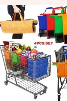Functional Bags Cart Trolley Supermarket Shopping Bag Grocery Grab Shopping Bags Foldable Tote Eco-Friendly Reusable Item type:Shopping bag Non woven fabric Color: Orange Reusable Shopping Bags, Reusable Bags, Limpieza Natural, Trolley Bags, Bag Packaging, Simple Bags, Plastic Bags, Plastic Shop, Home Decor