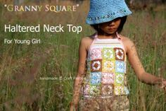 Lots of free granny square clothing patterns.