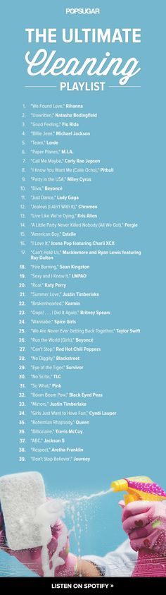 39 of the Best Songs to Listen to While You're Cleaning