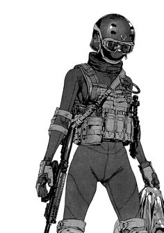 hi i like manga Female Character Design, Character Design Inspiration, Character Concept, Character Art, Anime Military, Military Art, Armor Concept, Concept Art, Manga Girl