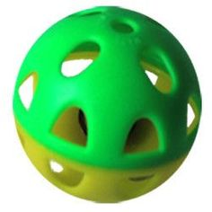 Iconic Pet - Two-Tone Plastic Ball With Bell - 1 Pack - Yellow/Green Pattern - Size : 2.6 (6.5 cm)Two-tone plastic ball with bell, 1Pack, in yellow and green pattern with sound.Perfect toy for any cat. At Home > Pet Care > Pet Toys > Cat Toys. Weight: 1.00