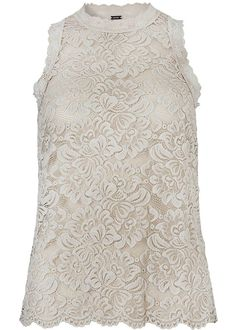 Top Blonde sand 22740 Stretch Lace Top - 84 champagne