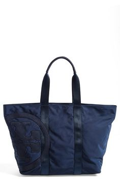 Tory Burch 'Medium Penn' Nylon Tote available at #Nordstrom But in black! #diaperbag