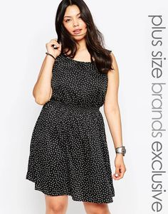 New Look Inspire Floral Printed Skater Dress