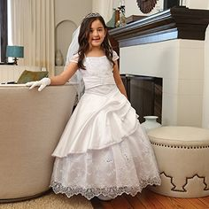 Angels Garment Big Girls White Gathered Sequin Trim Communion Dress 10 Angels Garment http://www.amazon.com/dp/B00S2W03IM/ref=cm_sw_r_pi_dp_xEv7ub0W4BG5D
