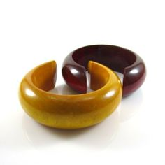 """MGD, Set of 2 of 1.25"""" Width Handmade Dark Red and Yellow Wood Cuff Bangles , '3 cm Width Dark Red and Yellow Bracelets' Mary Grace Design. $19.99. Ships from Thailand within 7-14 business days.. Dimensions: Diameter 6 Centimeters and 3 Centimeters in Width. Materials: Wood. Packaging: Black Velvet Pouch. Handmade from natural materials (some variations may be found in color and/or pattern)"""
