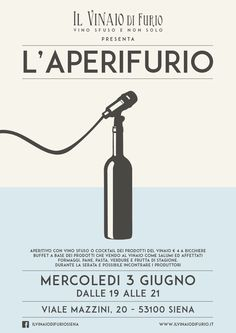 L'Aperifurio - event #poster for wine shop #siena