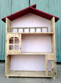 upcycled pallet doll house design - Wooden Dollhouses Designs