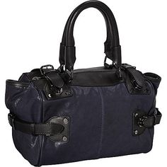 Kenneth Cole New York Hold Tight Satchel Navy - Kenneth Cole New York Designer Handbags