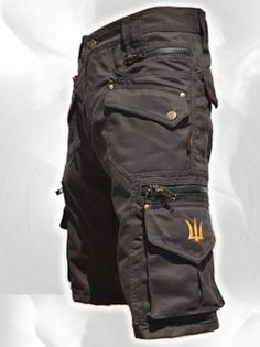Men Short Pants Hipster Tribal Steampunk Cargo Pants