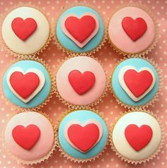 Cute Cupcakes for valentines day
