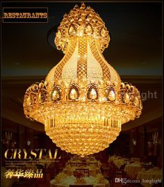 New Led Modern Chandelier Lighting Luxury Large K9 Gold Crystal Chandeliers Lustre Cristal Upscale Lustre Living Room Lobby Hotel Rustic Chandeliers White Chandelier From Longlight, $1109.55| Dhgate.Com