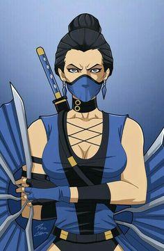 Kitana(MK)                              Phil-cho Character Bio, Character Design, Kung Jin, Kitana Mortal Kombat, Video Games Girls, Mileena, Warrior Girl, King Of Fighters, Video Game Characters