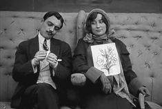 Max Linder woos an English girl with gestures inMax Speaks EnglishorL'anglais tel que Max le parle(1914).
