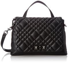 Rebecca Minkoff Lenox Satchel Top Handle Bag, Black, One Size