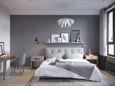 Make Your Fall Season perfectly with these Fall Bedroom Decorating Ideas. Fall bedroom ideas according to Fall or Autumn colors. Small Master Bedroom, Gray Bedroom, Trendy Bedroom, Bedroom Colors, Home Bedroom, Modern Bedroom, Master Bedrooms, Budget Bedroom, Fall Bedroom Decor