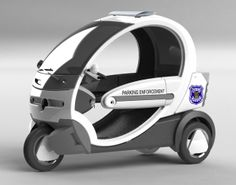 #electriccar #ecocruise #police #parkingenforcement #scooter #nev #seattle #transportation