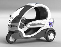 #electriccar #ecocruise #police #parkingenforcement #scooter #nev #seattle #transportation